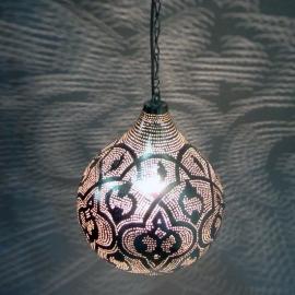 Oosterse Filigrainlamp zilver M