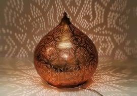 Tafellamp Filigrain Rood-koper
