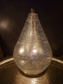 Gaatjeslamp zilver Large