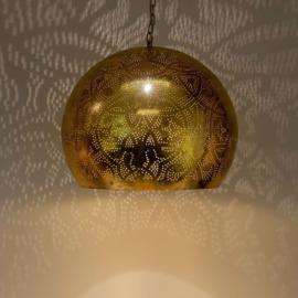 Industriële filigrain lamp goud