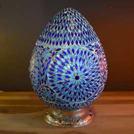 Mozaiek tafellamp Papaja Turqoise Blauw