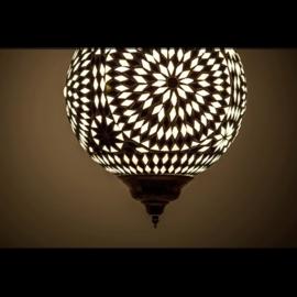 Art deco hanglamp Zwart-Wit Ø 25