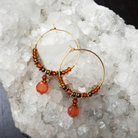 Creolen-goud-amber