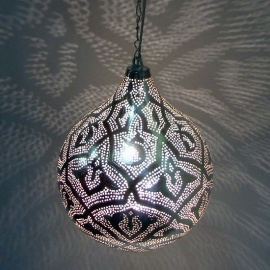 Oosterse lamp Filigrainlamp zilver L