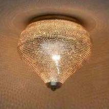Filigrain plafondlamp gaatjes zilver Ø 25 Medium