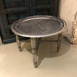 Antiek marokkaans dienblad Ø 76 cm