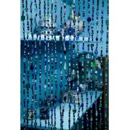 Vliegengordijn glas Blauw