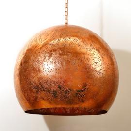 Industriële filigrain lamp koper XL