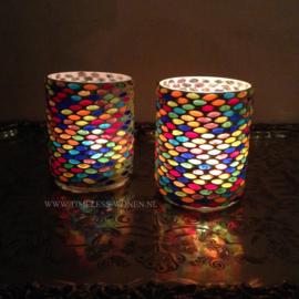 Mozaiek waxinehouder Seeds