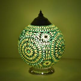Mozaïeklamp bol Ø 25 Groen