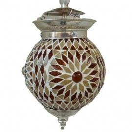 Hanglamp mozaiek Bruin-Beige Ø 15
