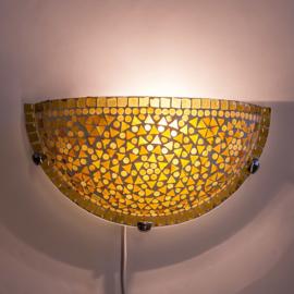 Wandlamp mozaiek  Bruin-Beige