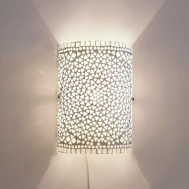 Wandlamp mozaiek cilinder Transparant