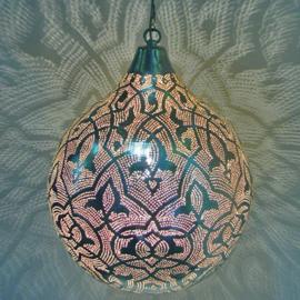 Oosterse Filigrainlamp zilver XXXL
