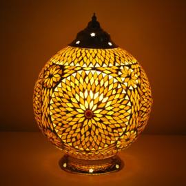 Mozaïeklamp bol Ø 25 Bruin-Beige