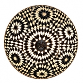 Mozaïek plafonnière Ø 38 cm zwart/wit-TD