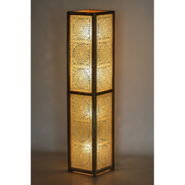 Vloerlamp mozaiek wit 120 x 25 cm