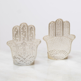 Zenza waxinehouder Hand Fatima filigrain