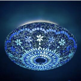 Mozaiek plafonnière Large Blue-beads