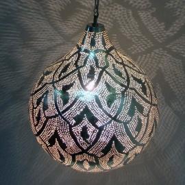 Oosterse filigrainlamp zilver XL