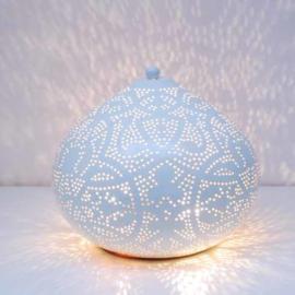 Tafellamp Filigrain Wit met Goud (Small of Large)