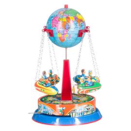 Blik carrousel wereldbol