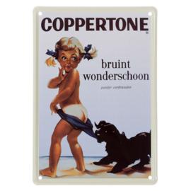 Reclame plaat Coppertone