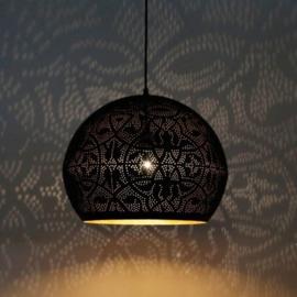 Industriele filigrain lamp zwart-goud