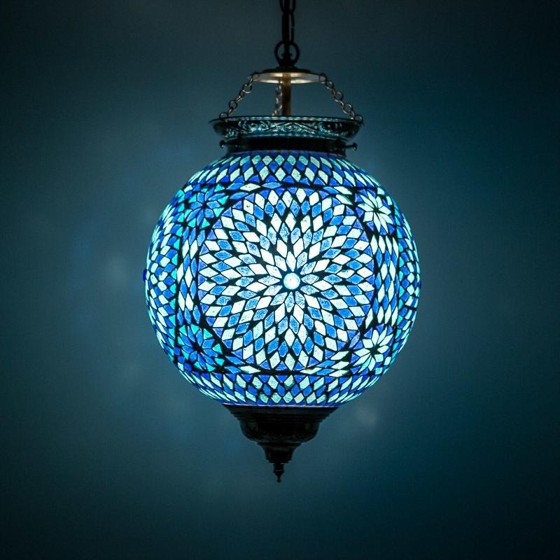Hanglamp mozaiek Blauw Ø 25