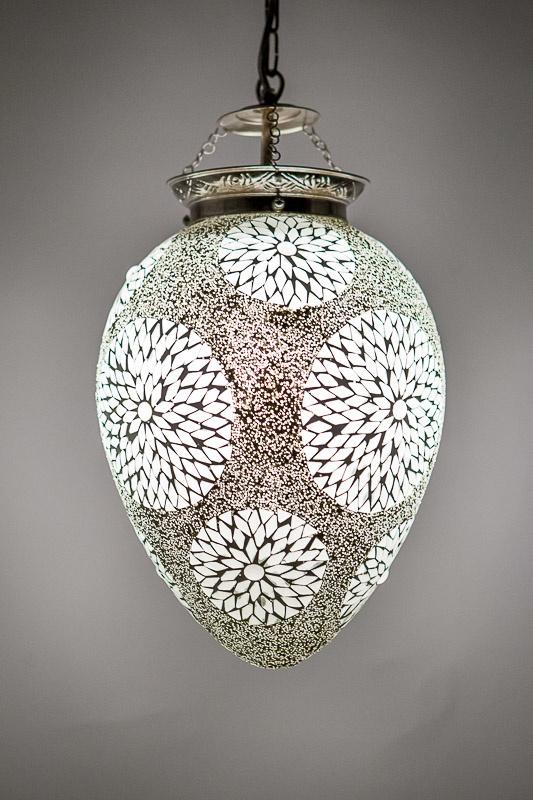 Mozaieklamp Papaja TRP-WIT Beads