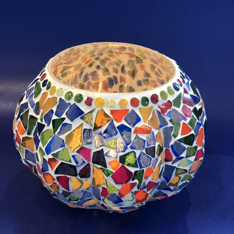 Waxinehouder mozaiek Pompoen multicolour