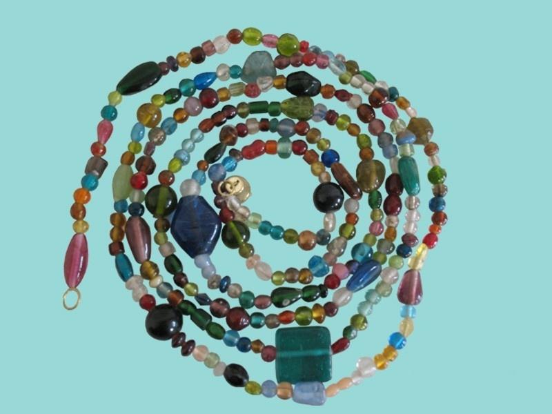Kralensnoer glas multicolour