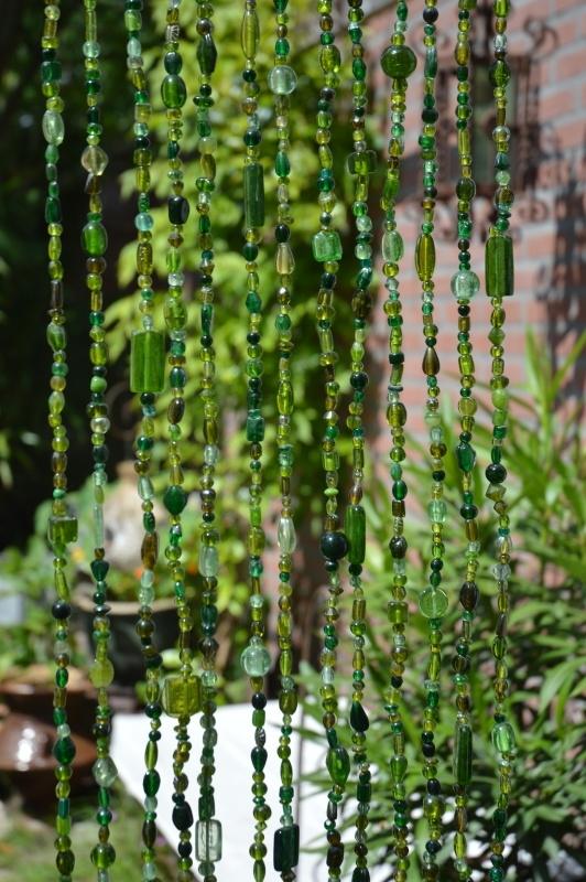 Kralengordijn groen glas