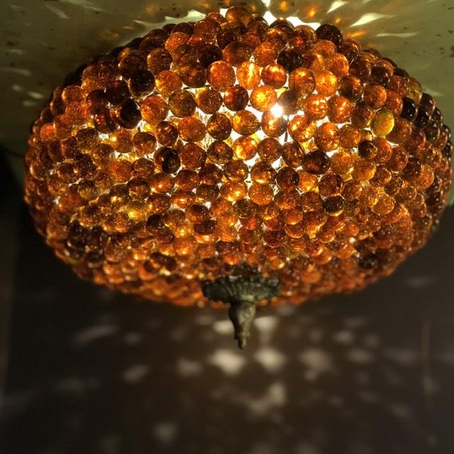 Plafondlamp knikker Bruin