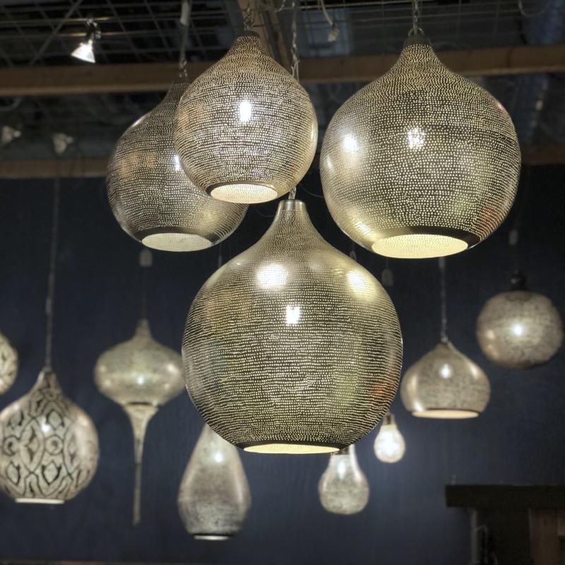 Verwonderend Oosterse lamp zilver Gaatjes S t/m XXXL | Oosterse filigrain HH-81
