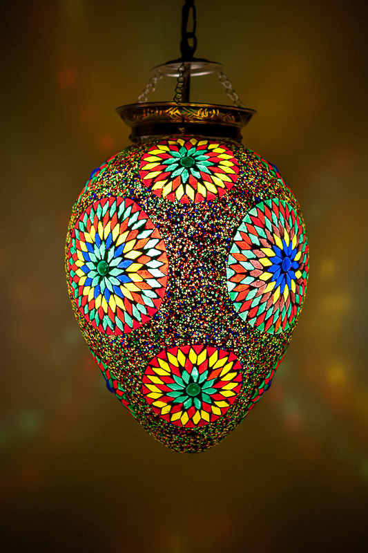 Mozaieklamp Papaja Multicolour Beads