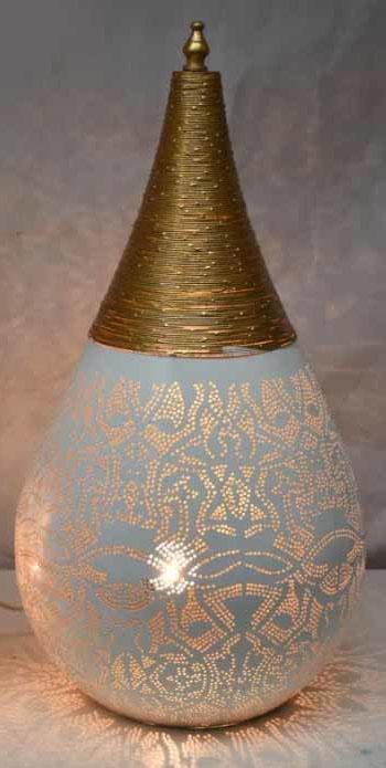 FiligrainlampWit-Goud Large