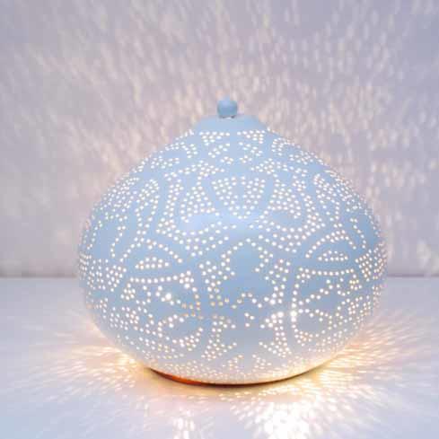 Tafellamp Filigrain Wit - Goud