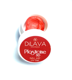 Plasticine 3D Nail Art UV Gel Red 4g.