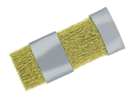 Nailtechnik Bit Cleaning Brush Brass