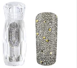 Crystal Caviar Micro Pearls silver