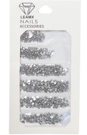 RhineStones Mix silver metallic 1364 pieces