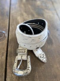Riem vacht wit/zwart voor Revival tas by Leather Design