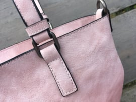 Roze bag in bag tas