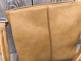 Kleine gele bag in bag tas met siernaad