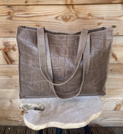 Fabia Bag Taupe/Donkerbruin