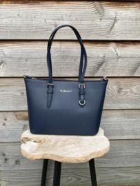 Flora&Co tas donkerblauw
