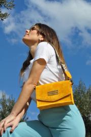 Perla Yellow Suede Chain by Bonendis