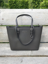 Flora & Co tas donkerbruin/taupe
