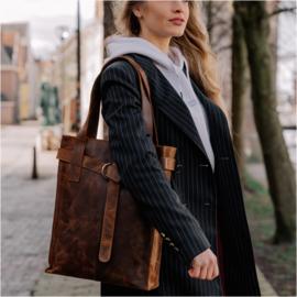Revival by Leather Design Hunter Bruin (laptoptas)
